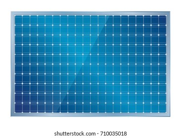 Solar Cell vector art illustration, isolate on white