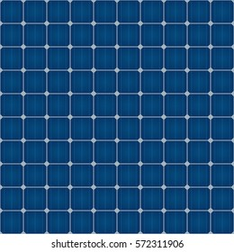 Solar Cells Seamless Pattern For Roof Solar Power Panel Design. Tileable vector background.