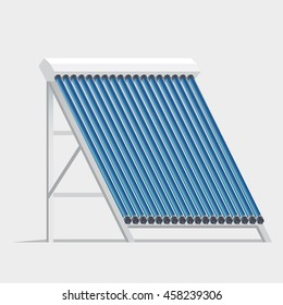 Solar collector. Hot Water System. Vector illustration