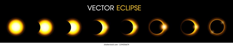 Solar Eclipse of the sun. illustration Vector EPS10