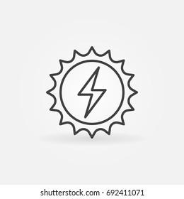 Solar energy concept icon - vector sun outline sign or design element
