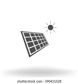 Solar energy eco concept icon