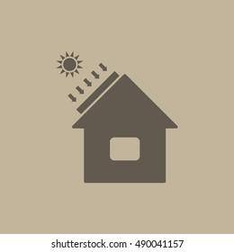 Solar Energy, Solar Heater Icon Vector
