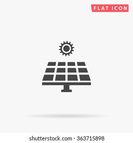 Solar energy Icon Vector. Simple flat symbol. Illustration pictogram