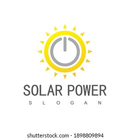 Solar energy Logo Design Template, Solar Power, Eco Energy Icon,