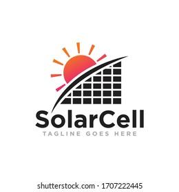Solar Energy Logo Design Vector