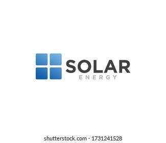 Solar Energy Logo Design Vector Illustration