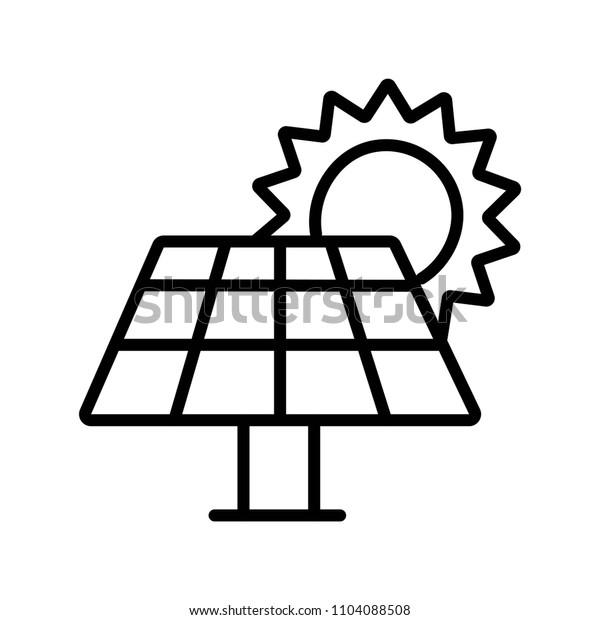 Solar energy panel icon