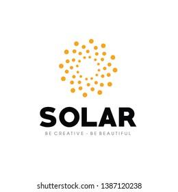 Solar Energy, Solar panels Logo Vector