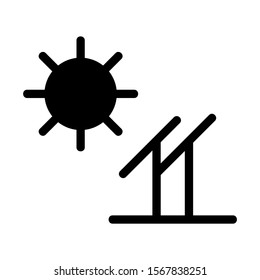 solar icon isolated sign symbol vector illustration - high quality black style vector icons