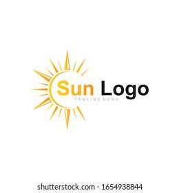 solar light vector logo design template for future energy source company
