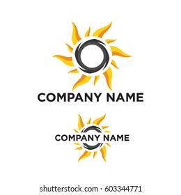 solar logo vector