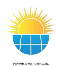 solar panel  Energy vector logo template