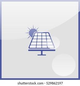 Solar panel icon.