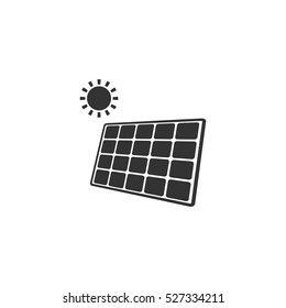 Solar panel icon flat. Illustration isolated vector sign symbol