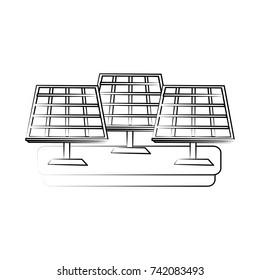 solar panel icon image
