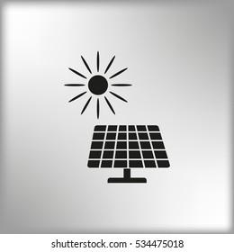 Solar panel icon, vector illustration