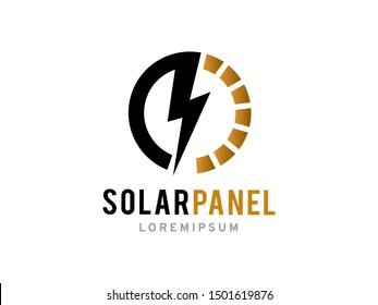 Solar Panel logo symbol or icon template