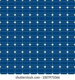 Solar panel. Seamless vector texture. Alternative electricity and renewable energy technology. Dark blue square cells on a light base. Ecological industry background.