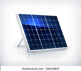 Solar panel, vector