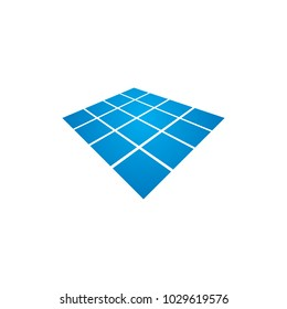 Solar Panel/Solar Cell Logo Design Vector with Transformed Effect