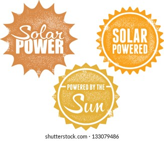 Solar Power Energy Stamps