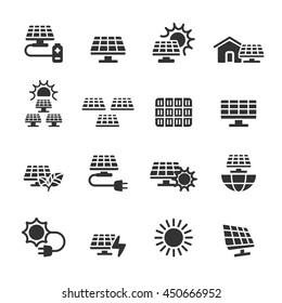 solar power icon set, vector eps10.