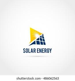 Solar Sun Panel Logo Icon