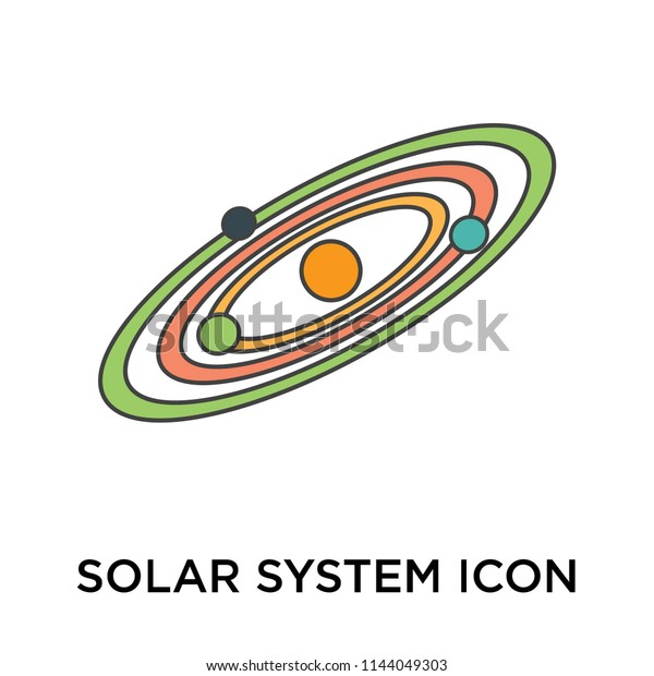 Solar System Icon Vector Isolated On Stock Vector (Royalty