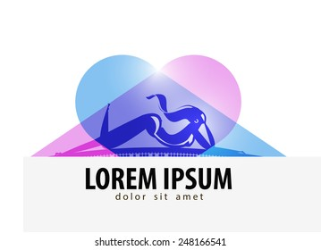 Solarium vector logo design template. beauty salon or Sexy girl icon.