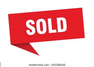 sold 3d speech bubble sign