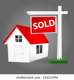 Sold Home Sign
