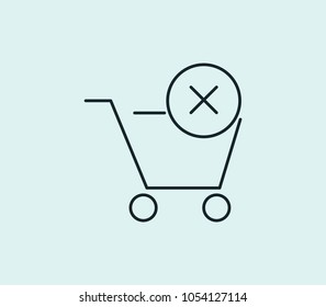 Sold icon line isolated on clean background. Sold icon concept drawing icon line in modern style. Vector illustration for your web site mobile logo app UI design.