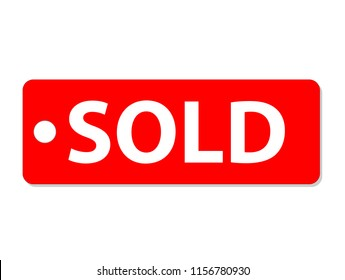 sold icon on white background. sold tag sign. flat style. sold icon for your web site design, logo, app, UI.