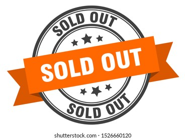 sold out black stamp. sold out orange band sign