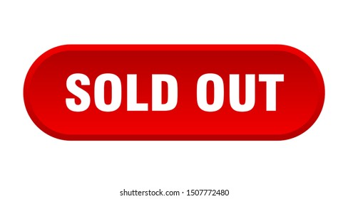 sold out button. sold out rounded red sign. sold out