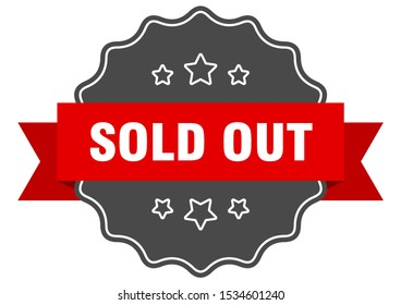 sold out red-black seal. sold out isolated sign