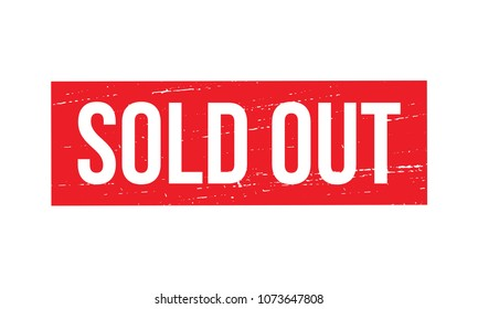 Sold Out Sign. Sold Out Stamp.