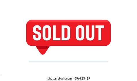 sold out sign vector illustration