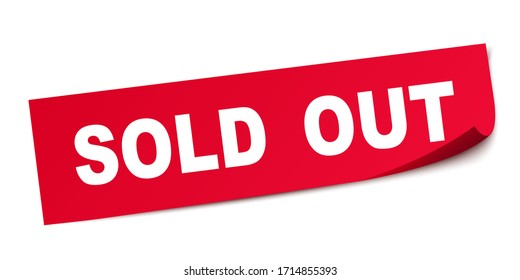 Sold out square sticker banner – stock vector