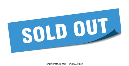 sold out square sticker. sold out sign. sold out banner