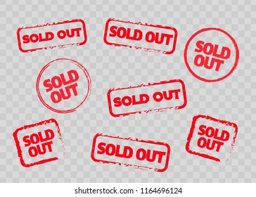 Sold out stamps grunge texture. Colored sold out grunge stamp