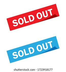 Sold out sticker illustration collection. Sold out vector icon set. marketing sign.