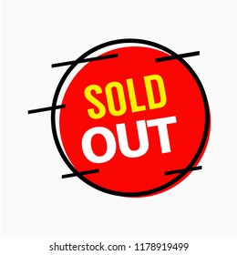 Sold Out Vector Template Design Illustration