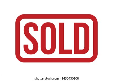 Sold Rubber Stamp. Sold Stamp Seal – Vector