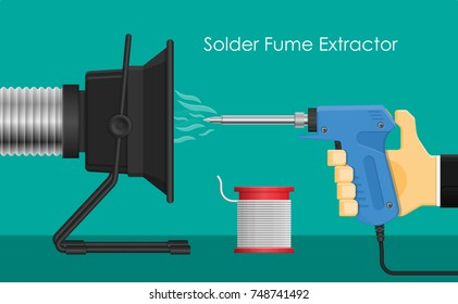 Soldering Iron Lead Fume Smoke Extractor Fan Filter Electronic Circuit Assembly Industrial Repair Maintenance Station Equipment Tool Welding Machine Exhaust Safe Environment Prevent Inhaled Disease