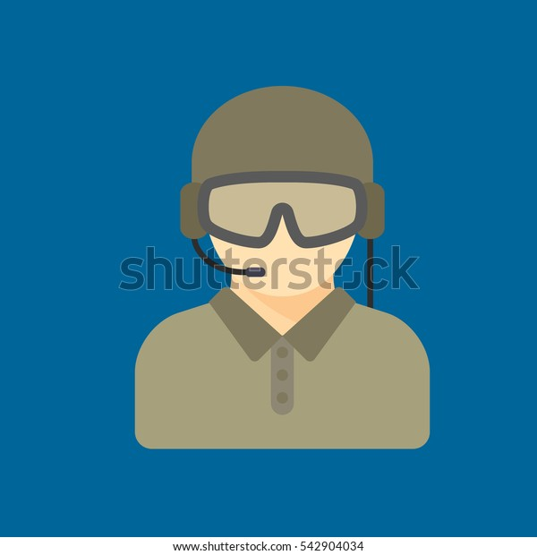soldier icon flat disign