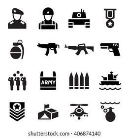 Soldier icon set vector illustration