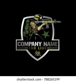 soldier with rifle logo vector.eps  See large preview Delete