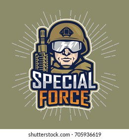 soldier special force vector logo